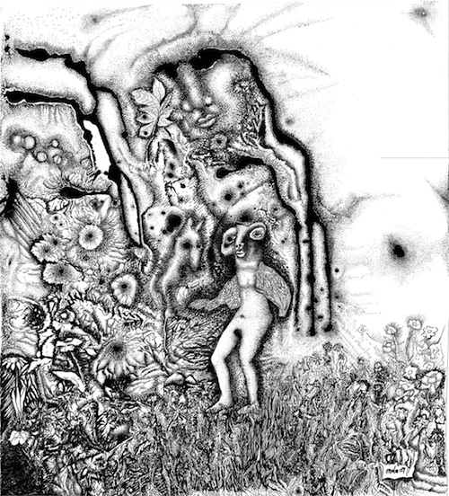 (The Meaning of Psychosis, A0 ink drawing on paper © Colin Hambrook)
